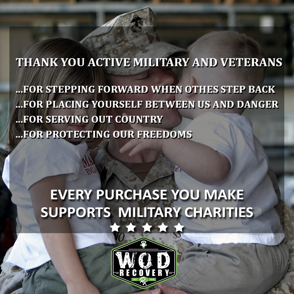 wod recovery rx military charity donations