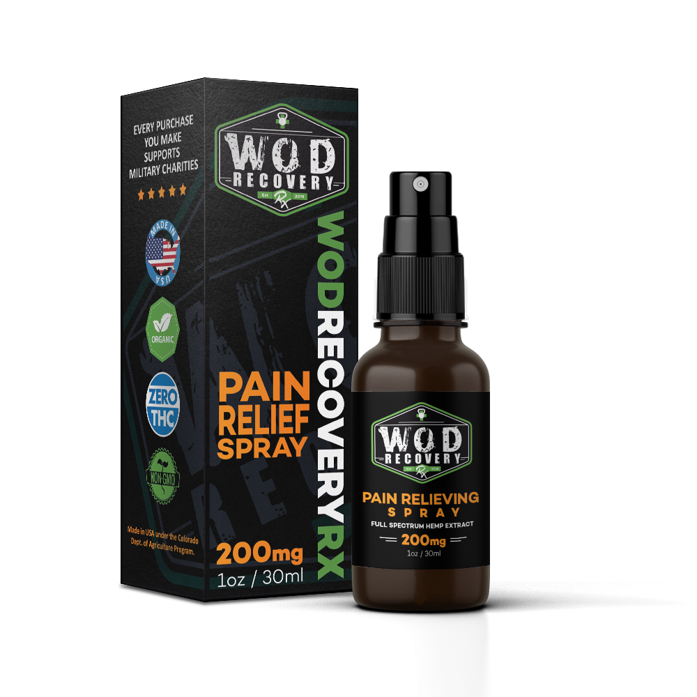 Wod Recovery Rx 200mg pain relief spray