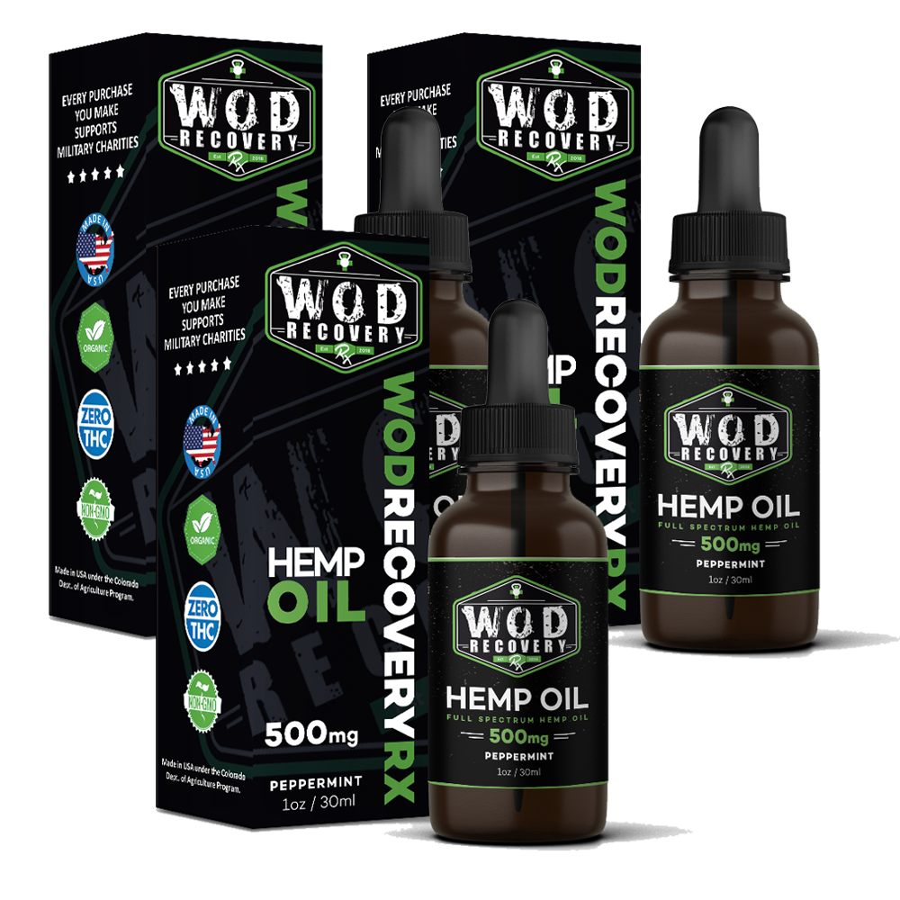 Wod Recovery Rx 500mg Peppermint CBD Oil