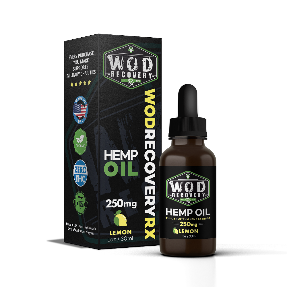 Wod Recovery Rx 250mg Lemon CBD Oil